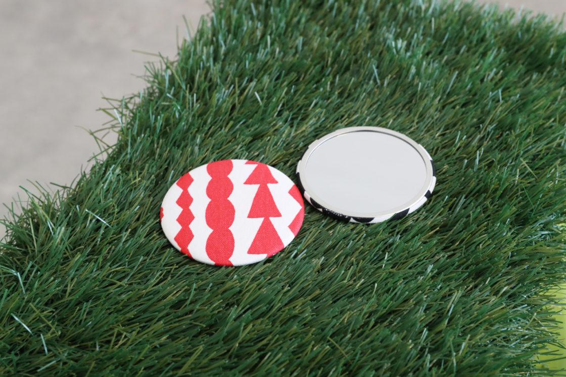 <Hanno Green Carnival 2019-Manab, Asob, Tsunagar-> Original Nordic Textile Badge & Mirror Creation 2