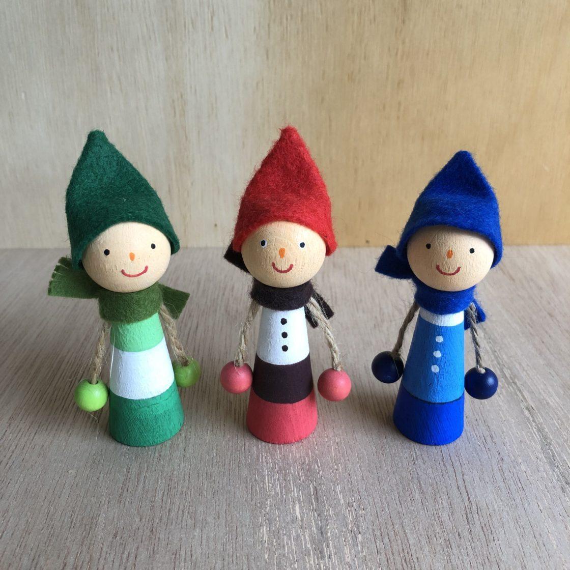 3匹のクマリョーシカ作り&森のこびとの指人形作り 2