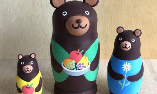 3匹のクマリョーシカ作り&森のこびとの指人形作り