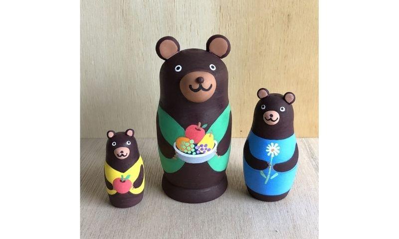 3匹のクマリョーシカ / 森のこびとの指人形 1
