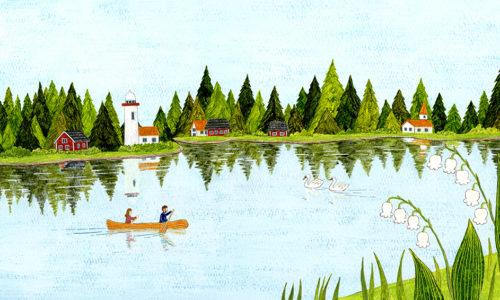 湖畔の北欧市