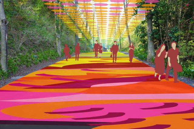 6月8日(土)より、メッツァビレッジ「森と、湖と、アンブレラと。」を開催 ~約1,000本の傘を使い、森から湖にかかる虹をテーマにした 日本最大級アンブレラスカイ・プロジェクト~