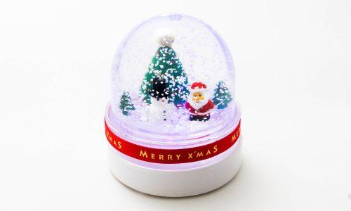【メッツァビレッジのクリスマス】雪降るクリスマスのスノードーム