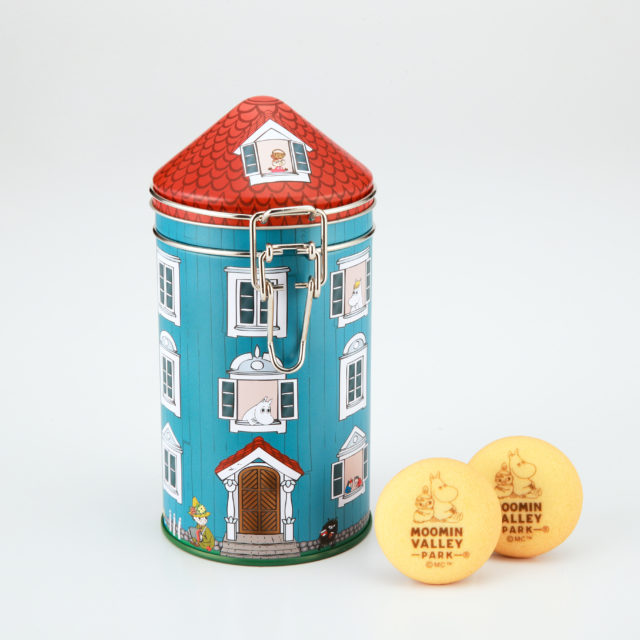 House type canister can chocolate cookies