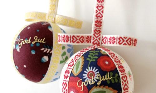 【予約終了】北欧ヴィンテージ生地で作る、クリスマスのオーナメントボール
