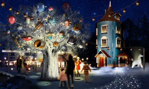 「WINTER WONDERLAND in MOOMINVALLEY PARK  EMPOWERED BY CALAR.ink」 ~ ムーミン谷の冬を感じる「夜のお散歩」 音とイルミネーションが繰り広げる 「ムーミンバレーパーク」はじめての冬 ~