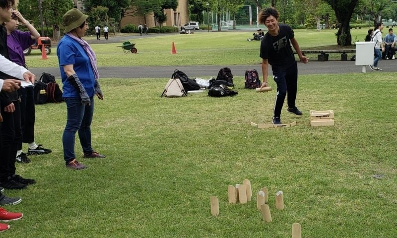 Surugadai University Student presents Let's play sports Mölkky originated in Finland 2