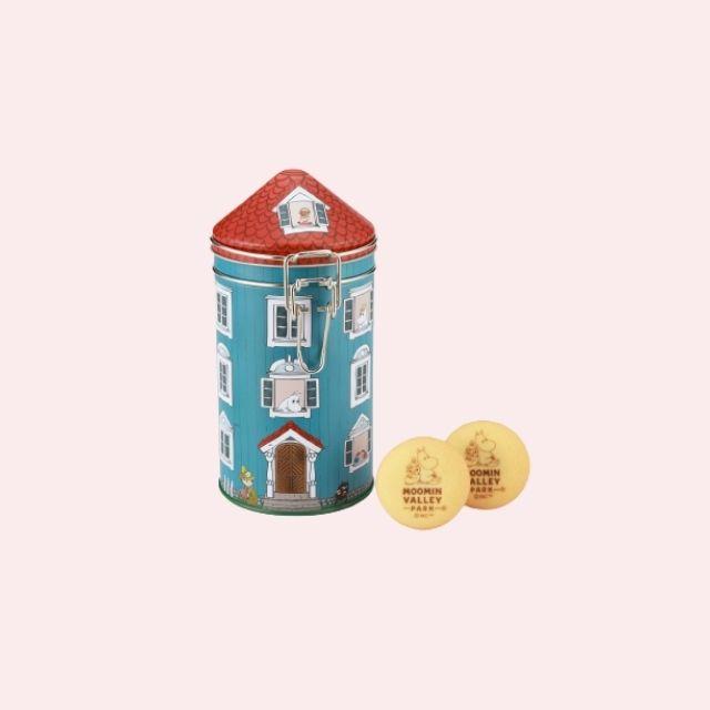 ハウス型キャニスター缶 チョコインクッキー