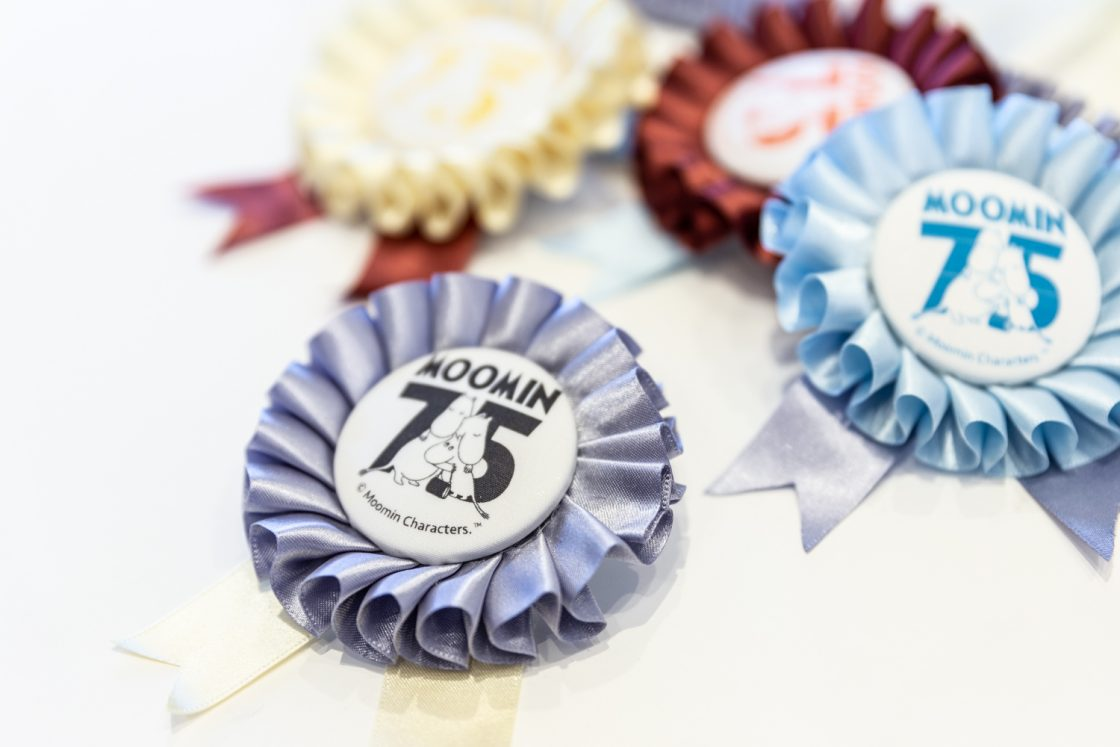 Congratulations on the 75th anniversary of Moomin! Rosette 1