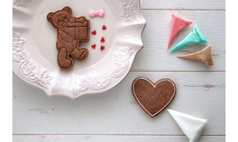 バレンタインのアイシングクッキー 2