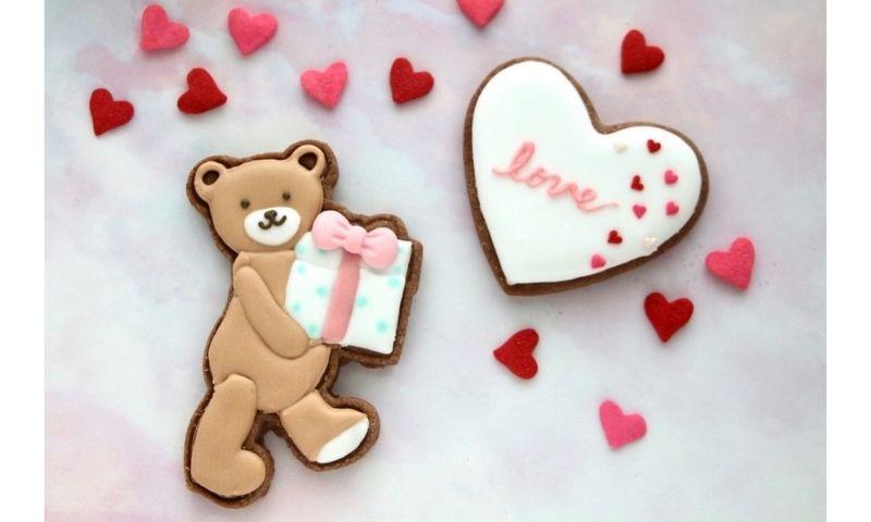 バレンタインのアイシングクッキー 1