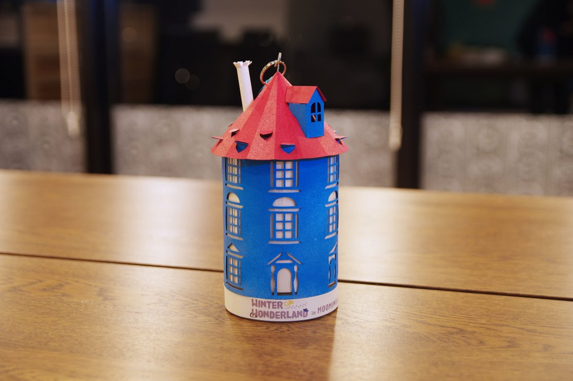 Moominhouse lantern made from paper craft 2