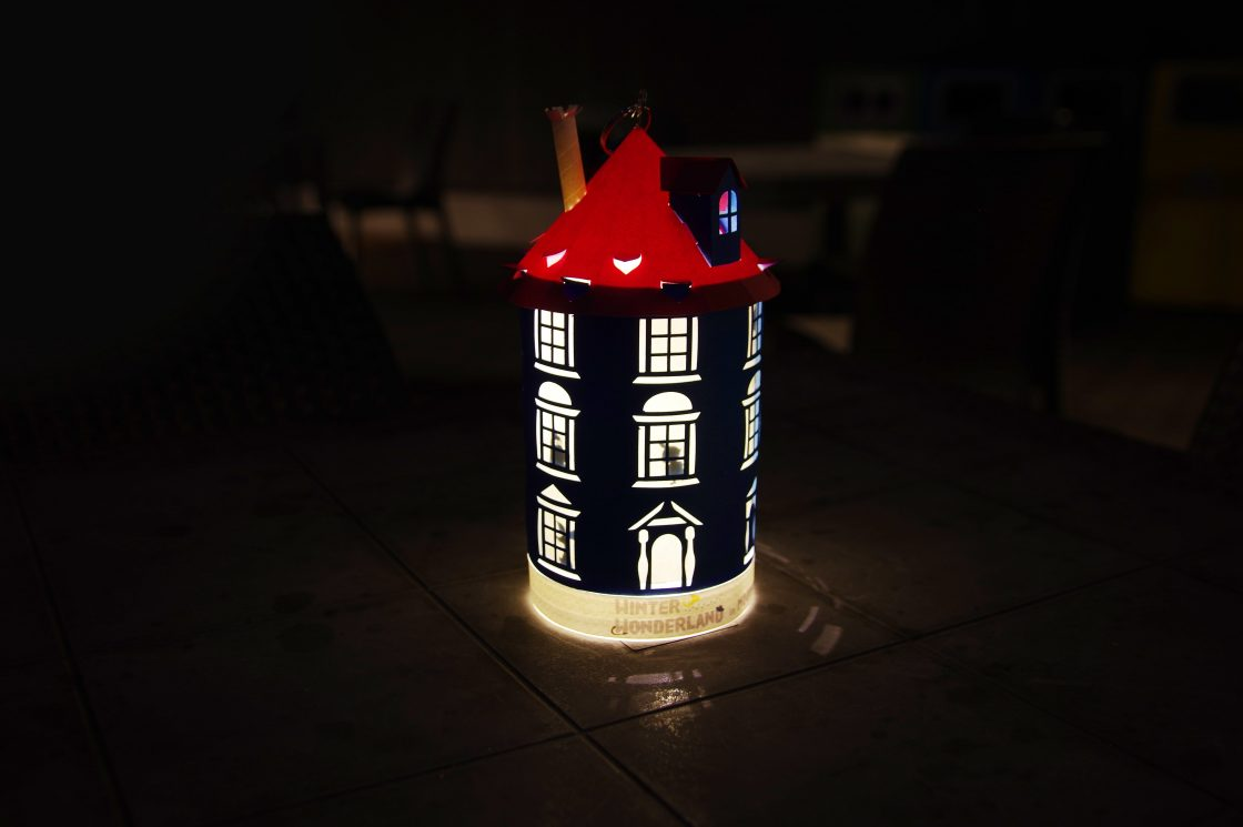 Moominhouse lantern made from paper craft 1