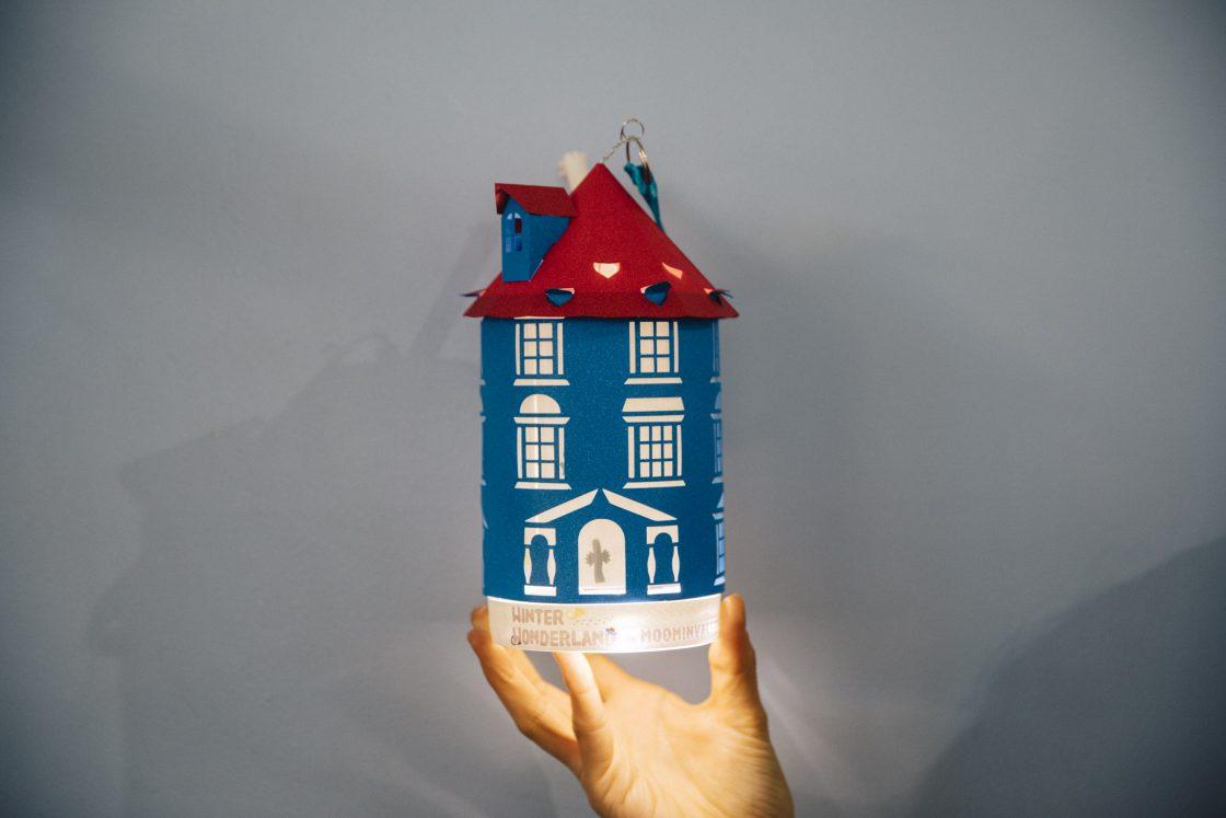 ペーパークラフトでつくるムーミン屋敷ランタン 1